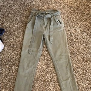 7 for all mankind high-waist green pants, size 24